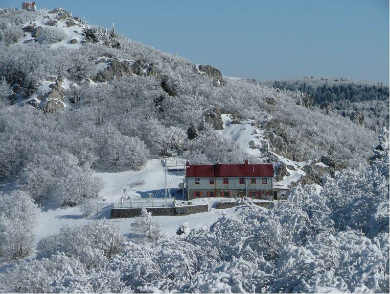 montagna velebit inverno