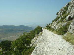 Monte Mosor,sentiero d'asino e la vista su Spalato