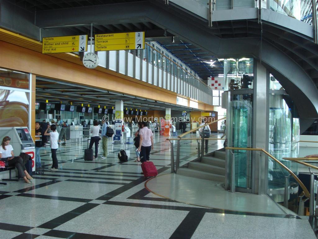 L'interno dell'aeroporto di Spalato