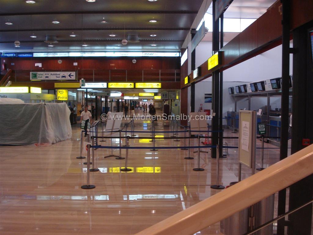 Zagabria aeroporto, all'interno del terminale