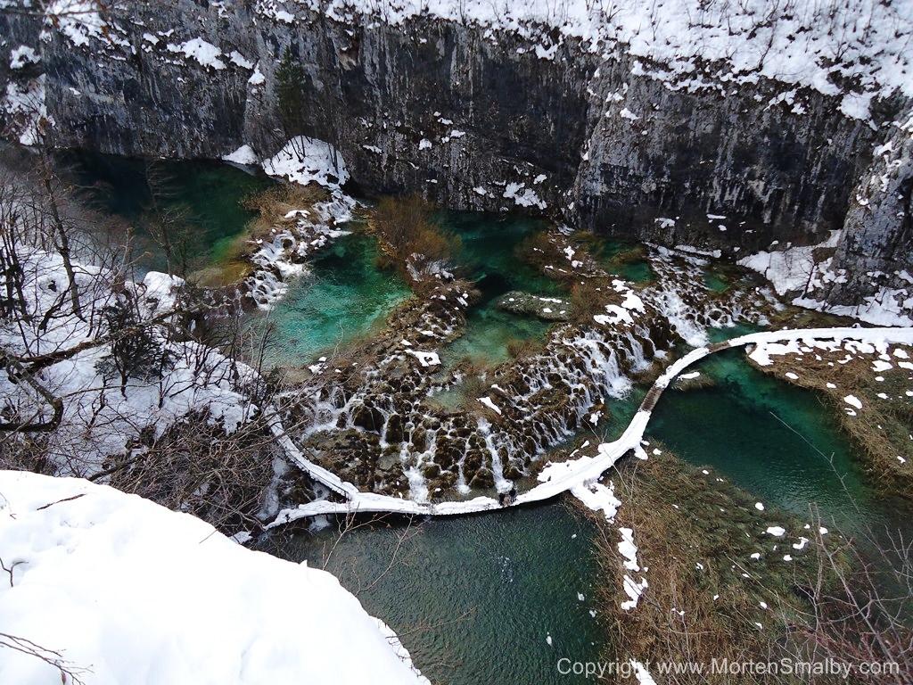 Inverno nel parco nazionale di Plitvice