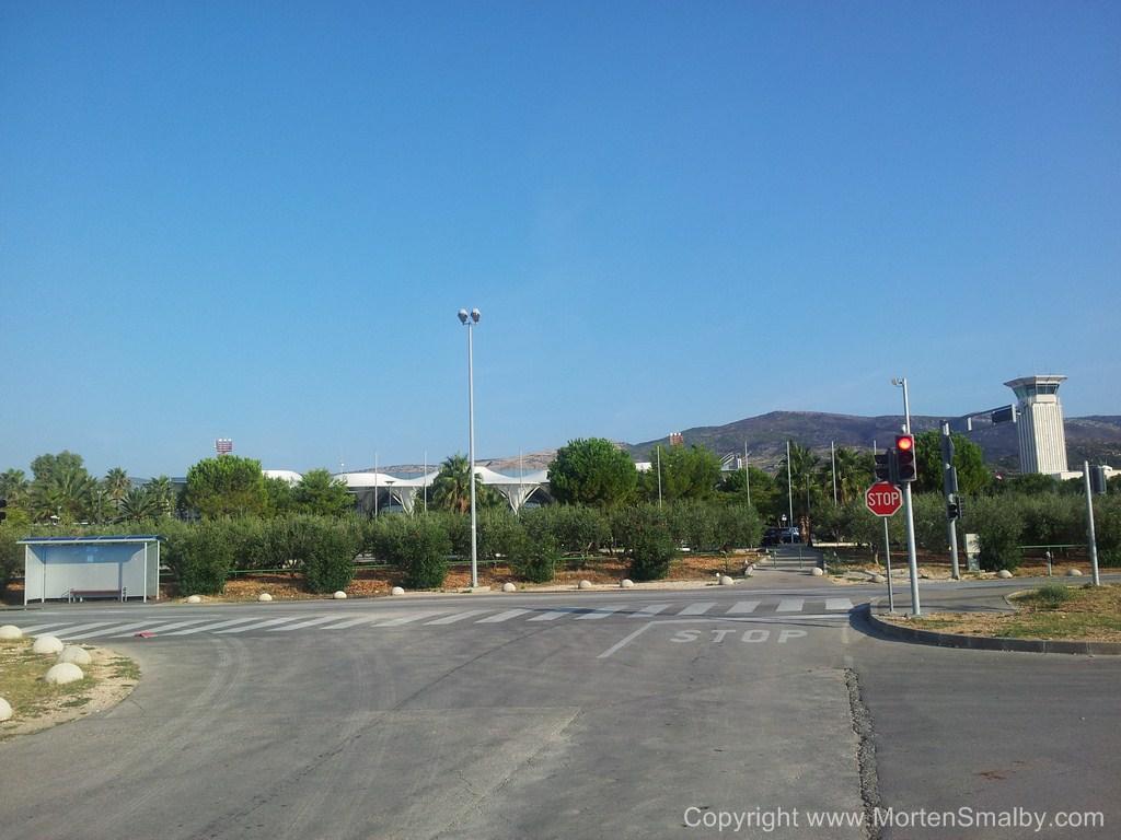 Presso l'aeroporto di Spalato