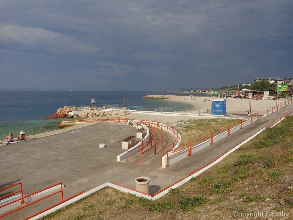 spiaggia per disabili Spalato