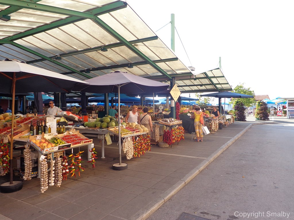 Mercato a Rovigno